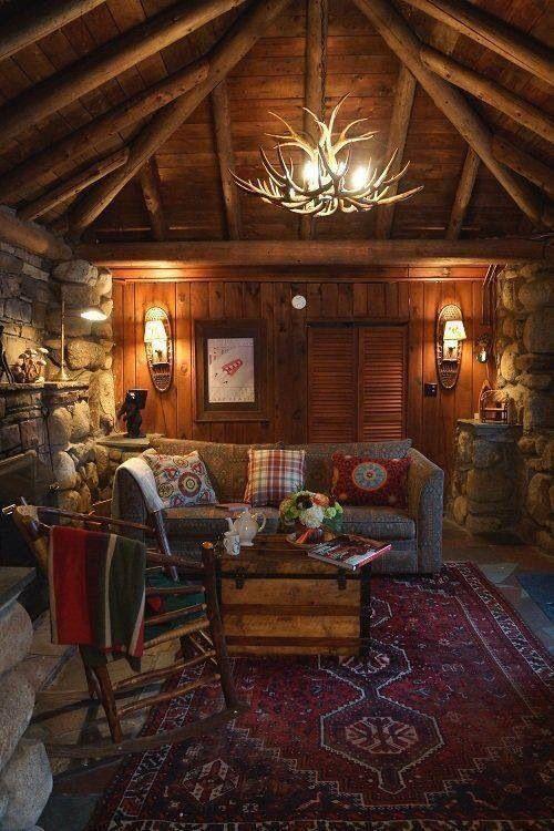 warm and cozy cabin interior