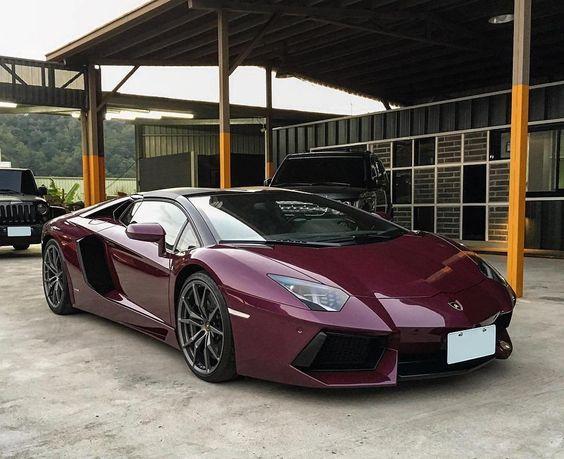 plum colored supercar