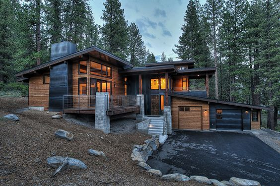 rustic yet modern home