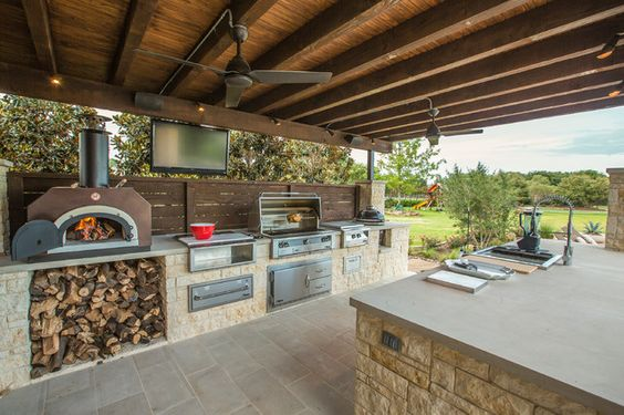 manly outdoor kitchen