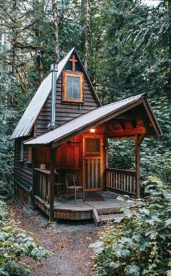 cozy cabin in woods