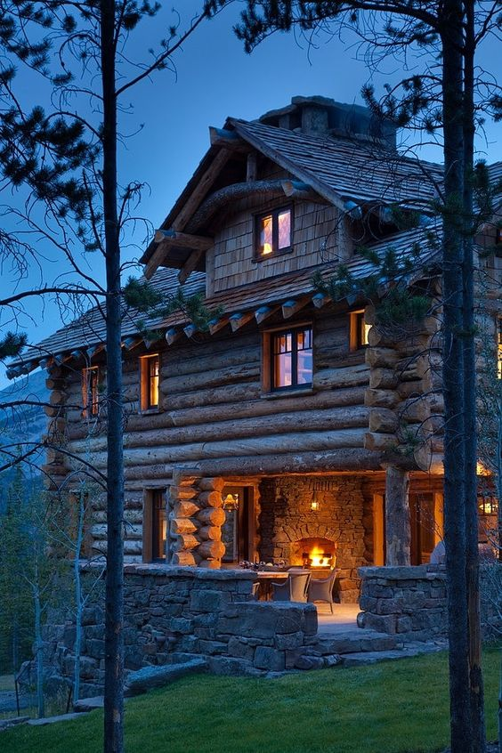 big log home