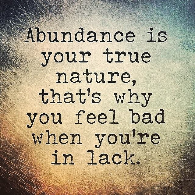 abundance is your true nature
