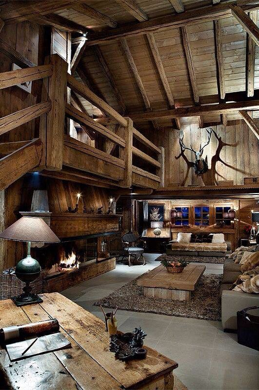 hunting lodge interior