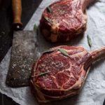 two tomahawk steaks