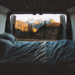 camper van in the mountains