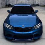 striking blue bmw