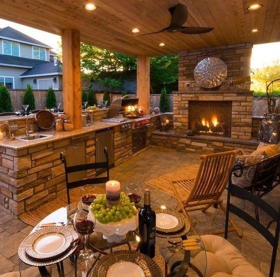 suburban outdoor kitchen