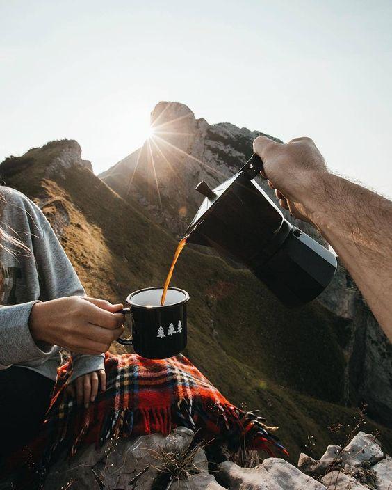 mountain top coffee break