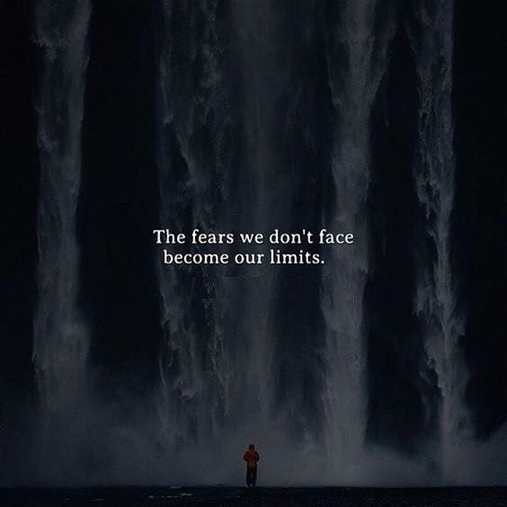 the fears we dont face become our limits