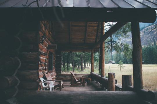 quiet cabin porch