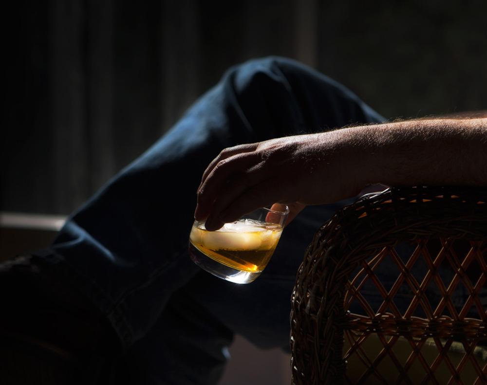 a man enjoying a quiet drink