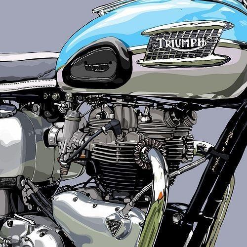 chrome triump motorcycle