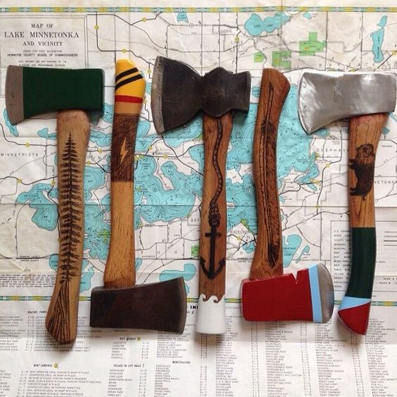 colorful axes