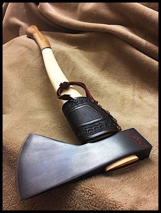 beautiful custom axe