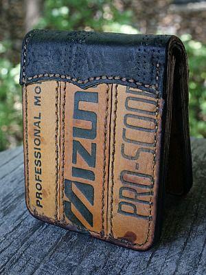 leather baseball glove wallet