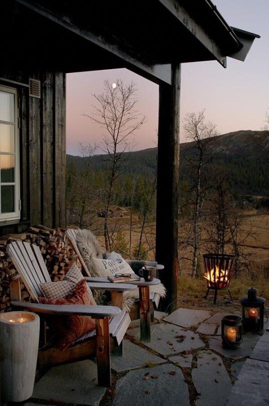 comfortable porch