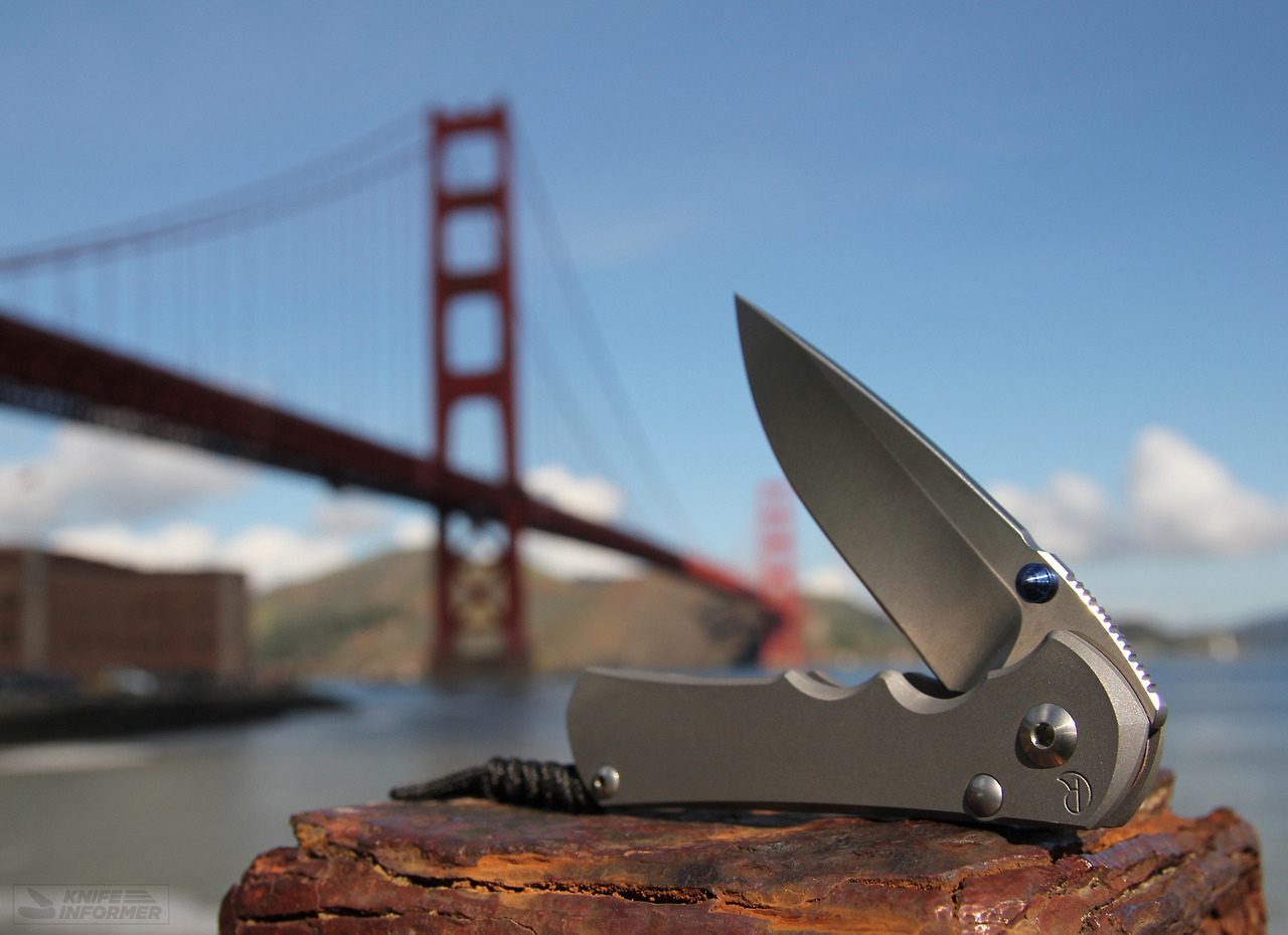 knife and golden gate bridge in background