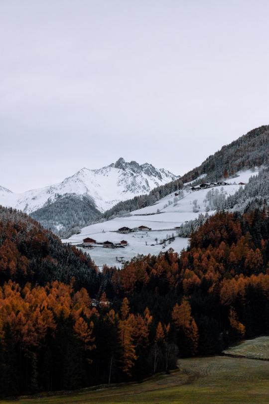 mountain town snow
