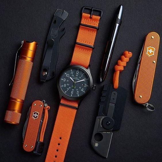 orange and black edc