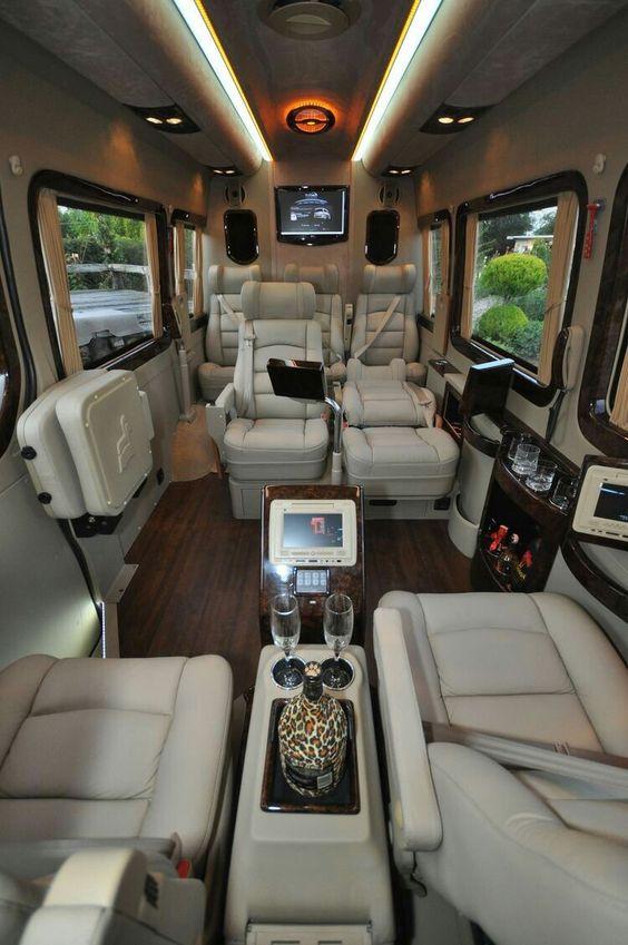 inside luxury van limo