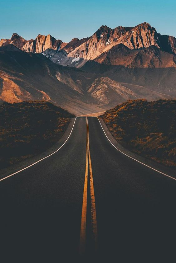 long mountain road