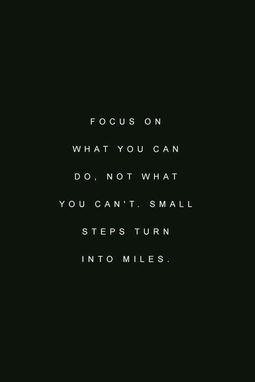 focus on what you can do