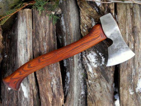 wood handle ax