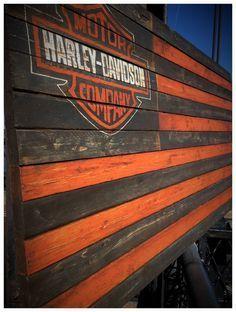 wood harley davidson sign