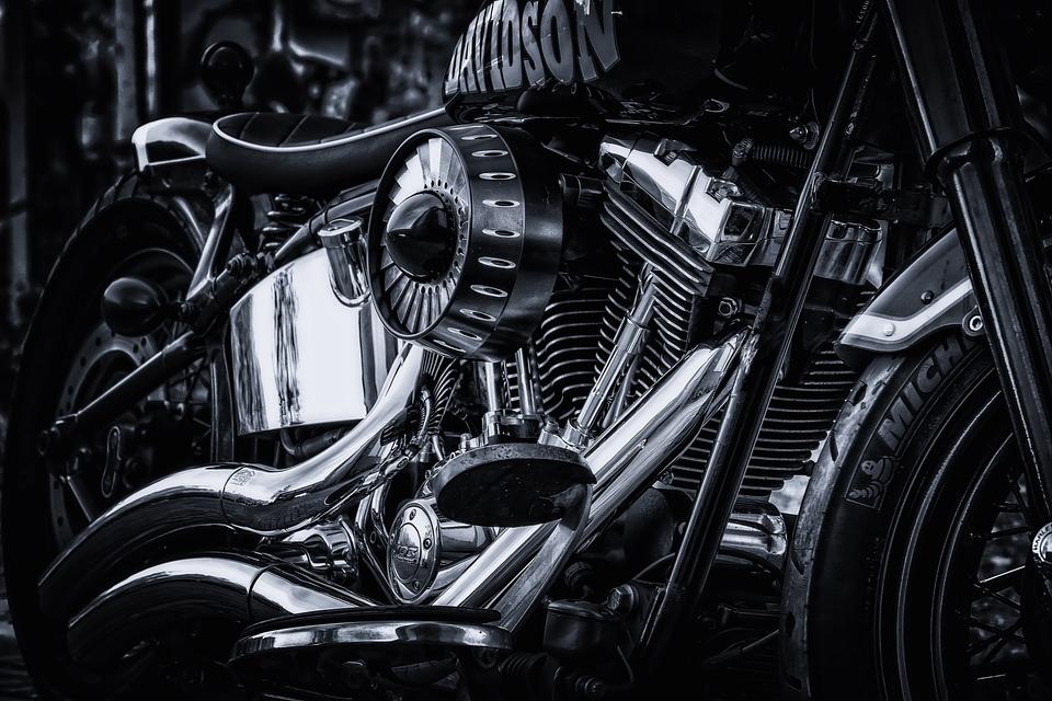 chrome harley davidson engine