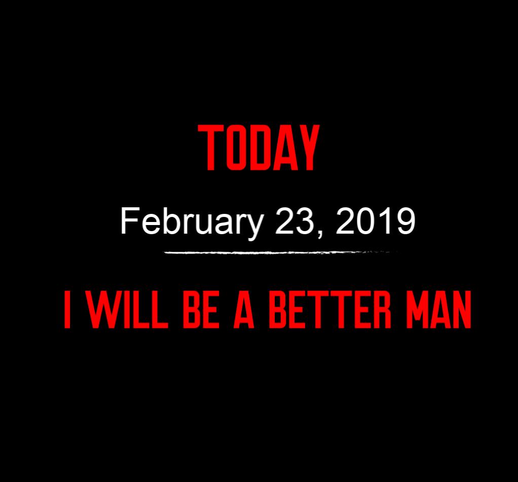 better man 2-23-19