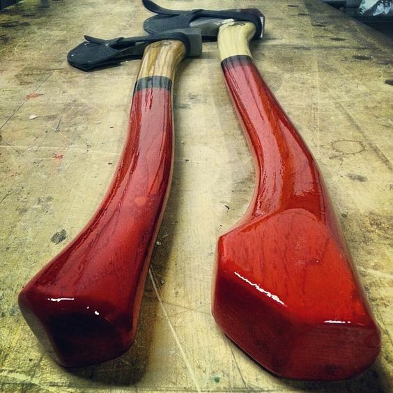 Candy Apple coated Base Camp X axes