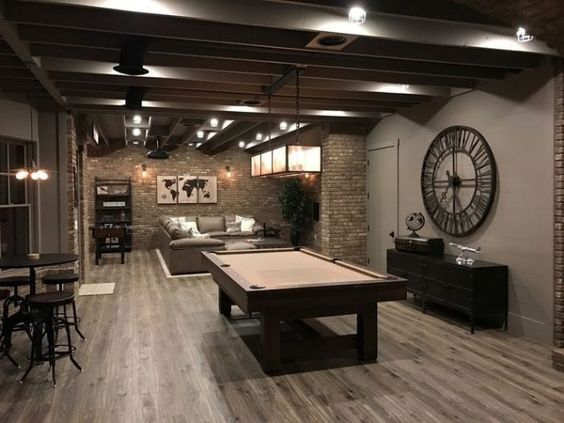 sophisticated game room