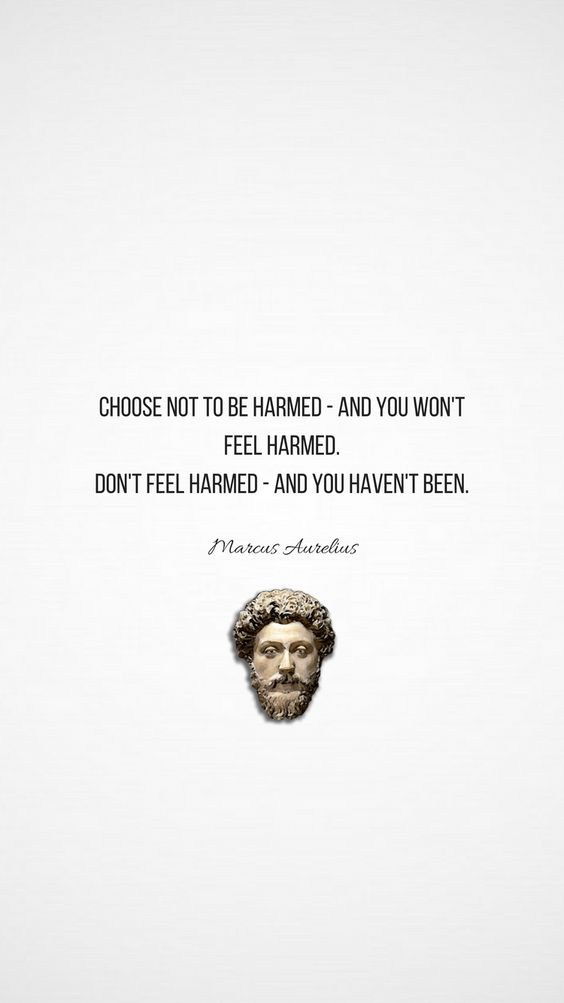 choose not to be harmed