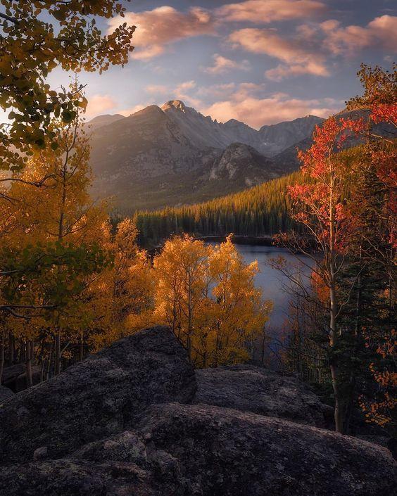 fall sunrise colorado