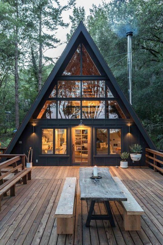 handsome a frame cabin