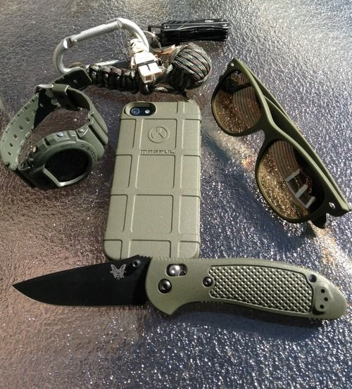 army green everyday carry