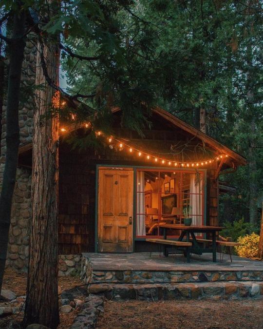 cozy cabin porch
