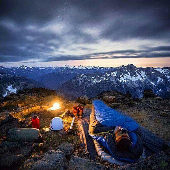 high mountain camping