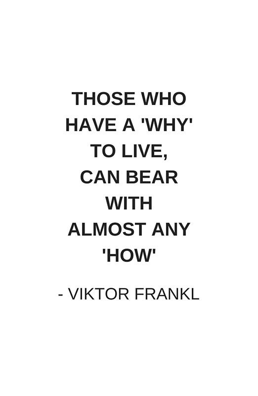 those who have a why to live