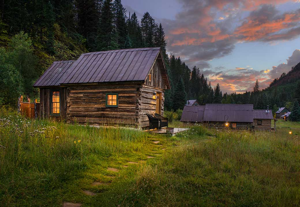 winter cabin in the summer