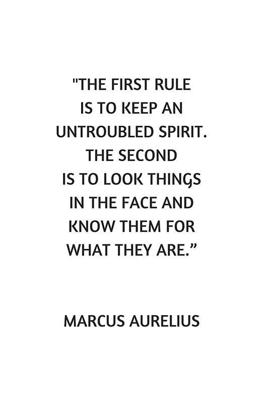 an untroubled spirit