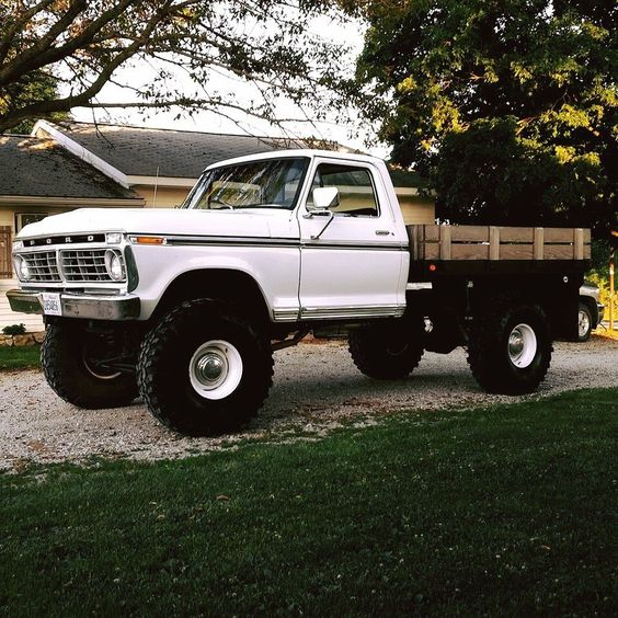 classic flatbed ford pickup