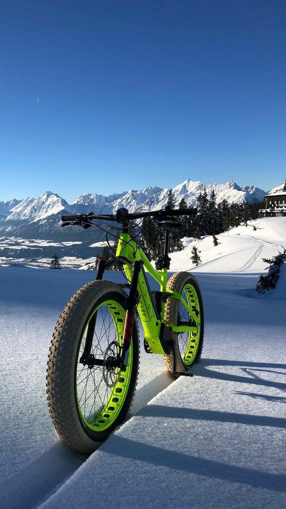 fat bike in the snow