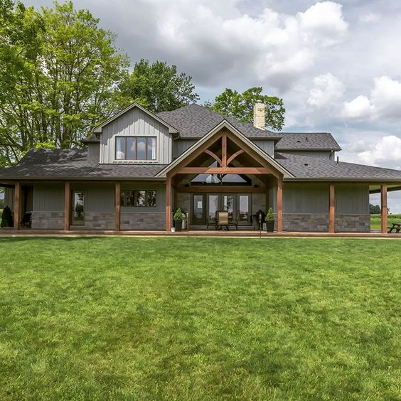 handsome looking home with wrap around porch