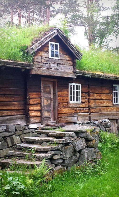 stone staircase cabin