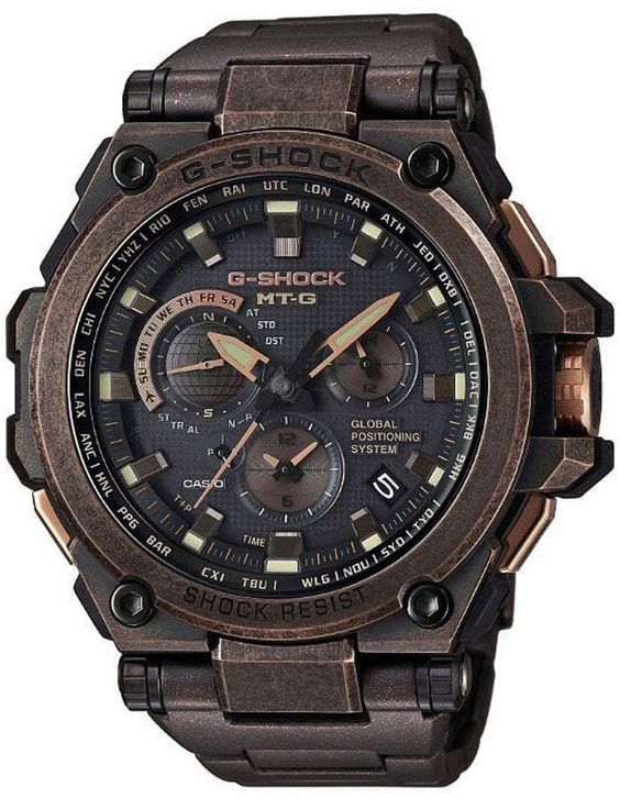 Casio G-Shock MT-G Solar GPS Atomic Stainless Rose-Gold Mens Watch
