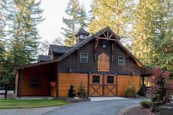 handsome barn home