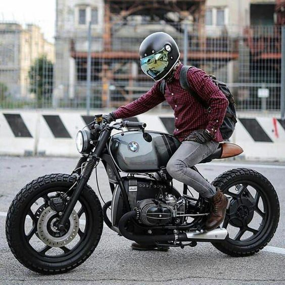 man on bmw motorcycle
