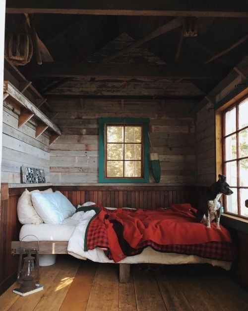 manly cabin bedroom